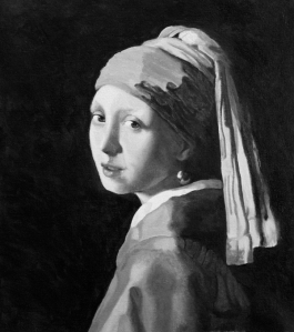 Girl with Pearl Earring - the underpainting stage